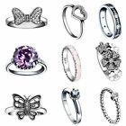 Size 5-9 Fashion Genuine Jewelry 925 Silver Wedding Rings New Gift for Lady Girl