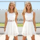 Fashion Women Lace Short Dress Prom Evening Party Cocktail Bridesmaid Wedding TC