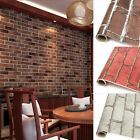 HIGH QUALITY 1PCS PVC REALISTIC BRICKS ROCK WALL STICKER ADHESIVED HOME DECOR