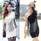 Long Sleeve Women One Off Shoulder Dress Top Casual Wiggle Fashion Korean TXCL