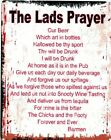 THE LAD'S PRAYER METAL SIGN  RETRO VINTAGE STYLE.man cave,garage,shed,pub,bar