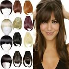 """New 8"""" Deluxe Clip In on Bangs Fringe Hair Extension Straight Hairpiece 1PCS 8yd"""