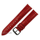Fashion Black Pin Buckle Red Alligator Grain Wristwatch WatchBand 18~24mm
