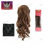 """KOKO Synthetic 8 Pieces 19"""" Clip in Hair Extensions Curly"""