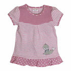 SALT AND PEPPER BABY - Mädchen Baby Glück T-Shirt-Kleid /Tunika Robbe Candy Pink