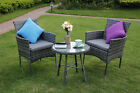 Eton Range Outdoor Garden Furniture Rattan Patio Single Chair With Coffee Table