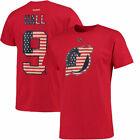 Taylor Hall New Jersey Devils Reebok Primary Flag Name  Number T Shirt NHL
