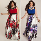 Women Elegant Summer Floral Party Maxi Dress Cocktail Long Dress Plus Size L-5XL