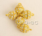 5 piece yellow 12mm filled gold Jewelry Design magnet Clasp W1122A4E4