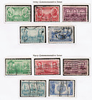 US #785~#791 1936 USED Set of 10 Stamps
