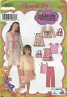 Simplicity 4669 Girls Top Skirt Pants Jacket Bag Sewing Pattern~ Size 3 4 5 6