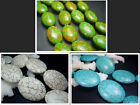 13X18mm ,25X34mm ,29x38mm Beautiful Oval Howlite Turquoise Loose Beads 16""