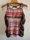 Womens Size 20W or 22W Clothes Rouched Tankini Swimsuit NWT $48 Tropical Escape