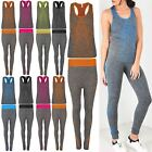 Womens Ladies Running Gymming Sports Dots Exercise Vest Jogging Active Wear Set