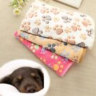 Pet Dog Fleece Warm Paw Print Soft Blanket Beds Mat Cushion DZ88