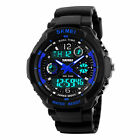 Sport Quartz Men's Analog Digital Waterproof Rubber Military Alarm Wrist Watch