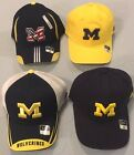 UNIVERSITY OF MICHIGAN SELECT 1 OFFICIALLY LICENSED FLEX FIT NCAA CAPS BY ADIDAS