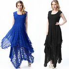 Women's Lace Long Dress Irregular Hem Cocktail Party Evening Evening Prom Dress