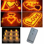 Romantic 50 x Yellow Flameless LED Wedding Tea Candle Light with RC Control Set