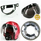 Flip Up W Shield Helmets Visor Optical Plain Lens PC Face Mask Diamond 3-Snaps