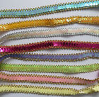 Stunning Sequins Elastic Wave Paillette Laciness Ribbon Beads Trimming Spangle