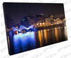 Print on Canvas city of Amsterdam Light Festival Holland Netherlands