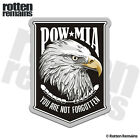 POW MIA American Eagle Badge Decal Soldier Memorial Gloss Sticker H1G