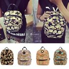 Fashion Women Backpack School Canvas Shoulder Bag Travel Rucksack Bookbag DZ88