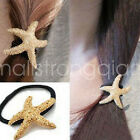 Fashion Women Vintage Sea Star Starfish Hair Band Rope Scrunchie Ponytail Holder