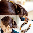 Fashion Leopard Print Hair Claw Banana Clips Ponytail Holder for women