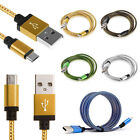3/6/10FT Braided Round line Micro USB Data/Sync Charger Cable For Android Phone