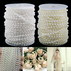 25M Pearl Beads Garland String Spool Rope Wedding Bridal Party Decor 6MM Pearl