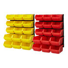 Plastic Bin Kit Wall Garage Storage Parts Bins Tool Small Parts Organizer Rack