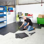 Interlocking Floor Tiles & Edging Heavy Duty Vinyl Flooring - Garages Workshops