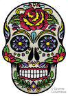 SUGAR SKULL EMBROIDERED PATCH iron-on SKELETON MEXICAN PARTY DECORATION PARCHE