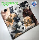 "ZooFleece 60X60"" Blanket Throw Quilt Cute Dogs Animal Puppies Linen Best Friend"