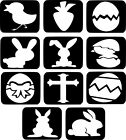 Easter Theme Refill Stencils x11 Glitter Tattoo Kit Face Painting Airbrush #28