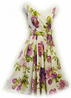"New Rosa Rosa Vtg 1950s style Purple Floral ""English Rose""Summer Swing Tea dress"
