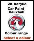 2K Acrylic Car Paint only VAUXHALL / OPEL Colours, Select Size And Colour