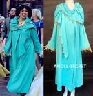 FP347 Jasmine princess long coat with hood costume for winter with gold border