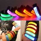 LED Safety Reflective Strap Snap Wrap Arm Band Shine Armband for Running Pretty