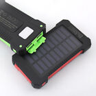 Waterproof 50000mAh Solar Power Bank 2USB LED Portable Battery Charger For Phone