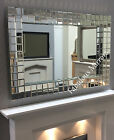 LG Stunning Contemporary Multi Bevelled Block Mirror - NEW