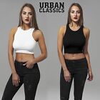 Urban Classics Damen Top Cropped Rib Bauchfreies Shirt T-Shirt Top-Shirt X-Cut