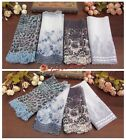 4Y Beautiful Embroidered Floral Tulle Lace Trim-White/Blue/Purple-Doll/DIY-E21-