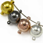 Silver / Gold Plated Strong Magnetic Round Ball Clasps for Jewellery Making