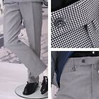 Get Up Mod Retro Frogmouth Pocket Slim Fit Dogtooth Trousers Black