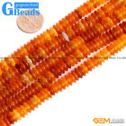 Natural Red Carnelian Agate Gemstone Rondelle Spacer Beads Free Shipping 15""