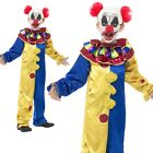 Adults Clown Costume Goosebumps Circus Act Fancy Dress Outfit