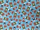 THOMAS THE TANK ENGINE pale blue : LICENSED VIP 100% cotton   by the 1/2 metre